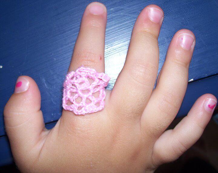 Crochet rings and bracelets free patterns