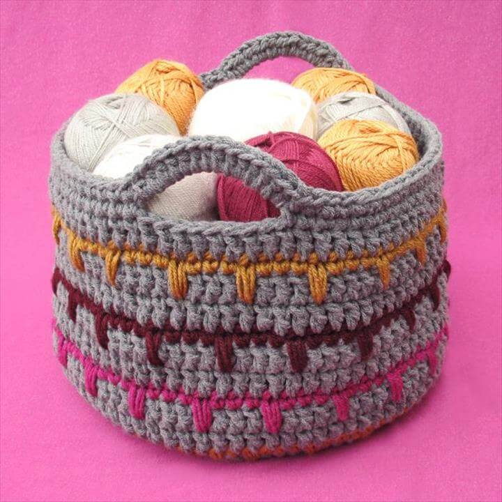 crochet basket ideas for home use