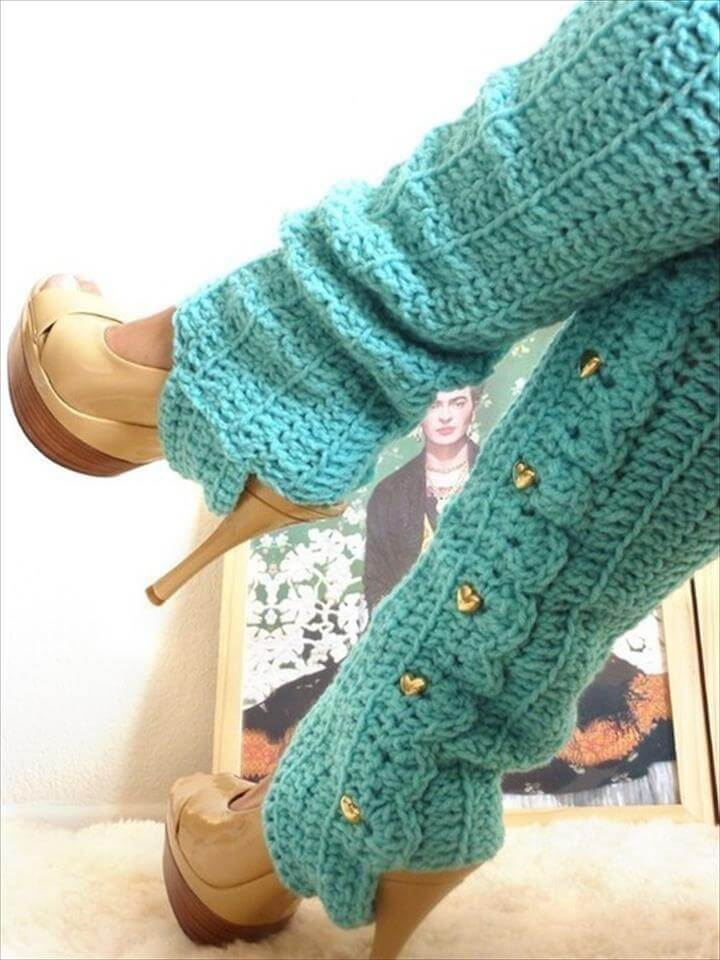 crochet best leg warmers for winter