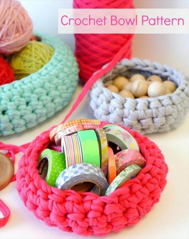amaziing crochet bowl design