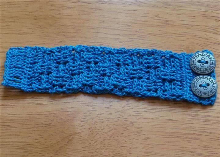 Free Crochet Basketweave Bracelet Pattern