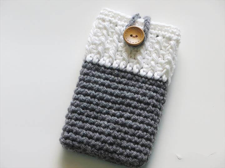 diy crochet phone cover