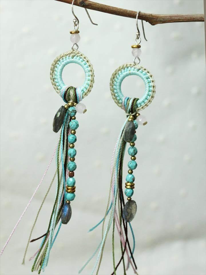 crochet earrings design