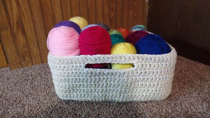 Crochet Easy Large Multipurpose Basket