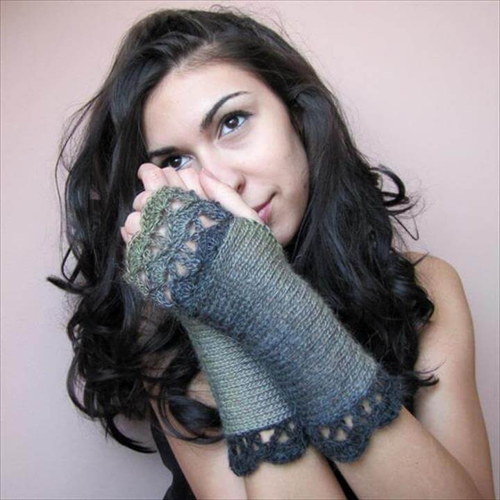 DIY Crochet Fingerless Gloves Pattern ...