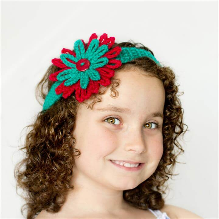 Easy Crochet Headband Flowers Diy Make