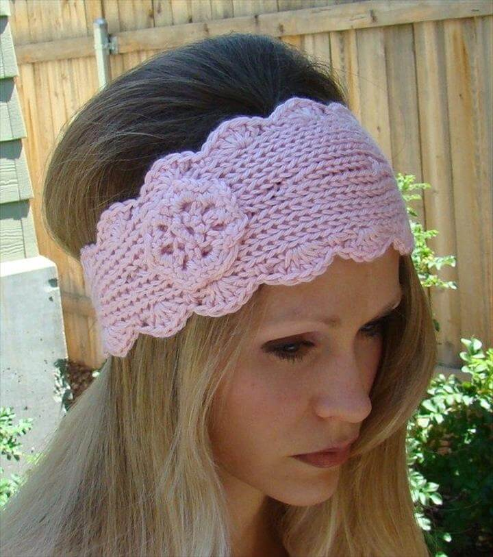 Knit Headband Pattern With Button : 15 Easy Crochet Headband With Flowers DIY to Make