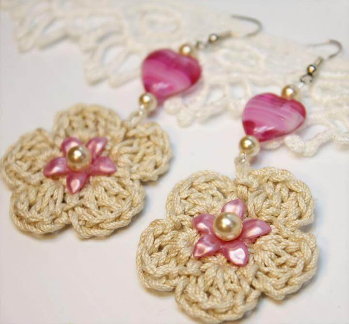 Crochet Jewelry Flowers earring