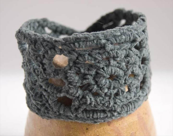 Grey Julie crochet cuff