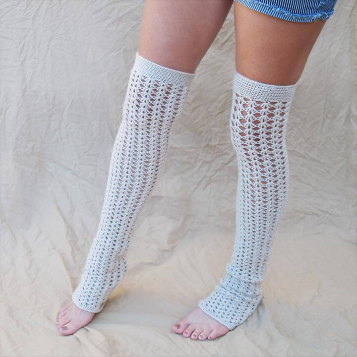 crochet lace leg warmer deign for girl's