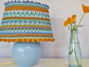 Crocheted Lamp Cover