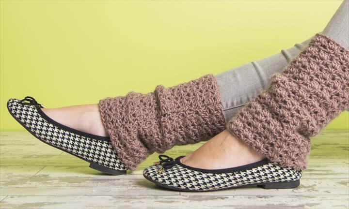 beginner crochet - leg warmers