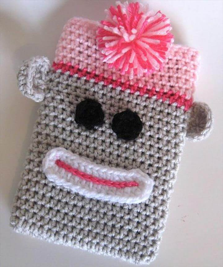 crochet zig zag phone case