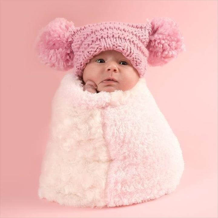 Crochet Newborn Pom Pom Hat Pattern : 30 Amazing Crochet Pom Pom Hat Ideas DIY to Make
