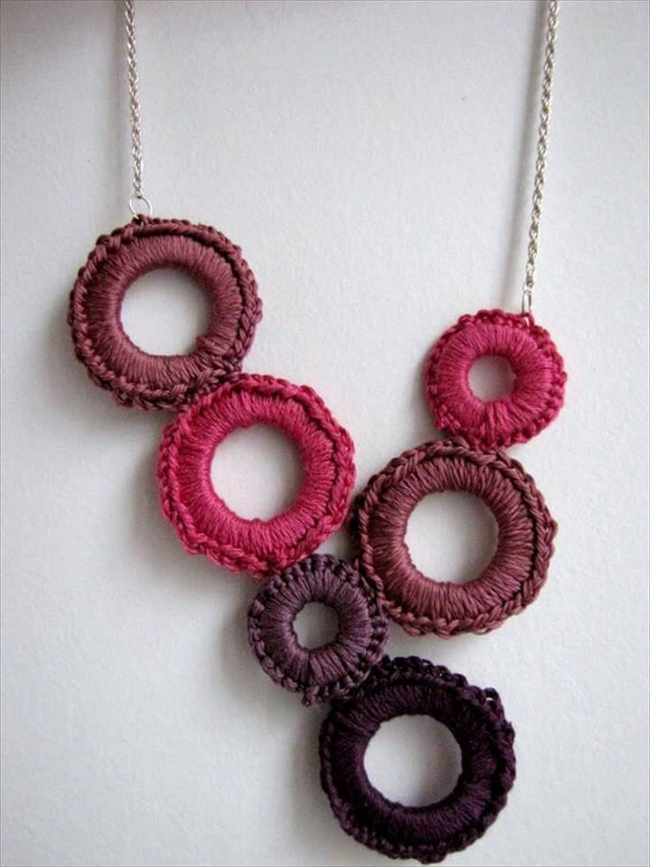 Crochet delight necklace tutorial