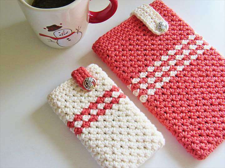 Mobile Device Cozy or Case Crochet Pattern, Customize for any Device, Free Crochet Pa