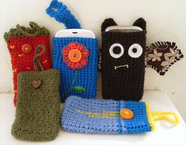 35 Adorable Crochet Mobile Phone Covers