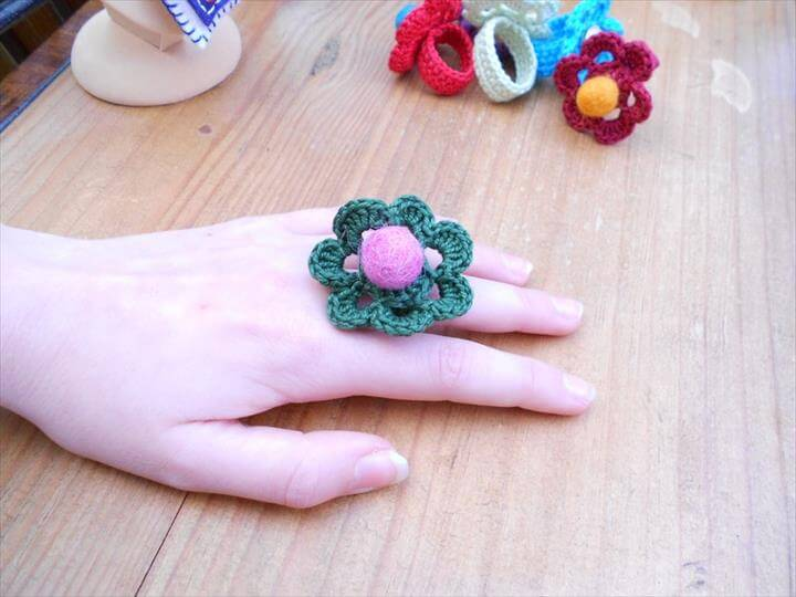 Crochet fashion Ring