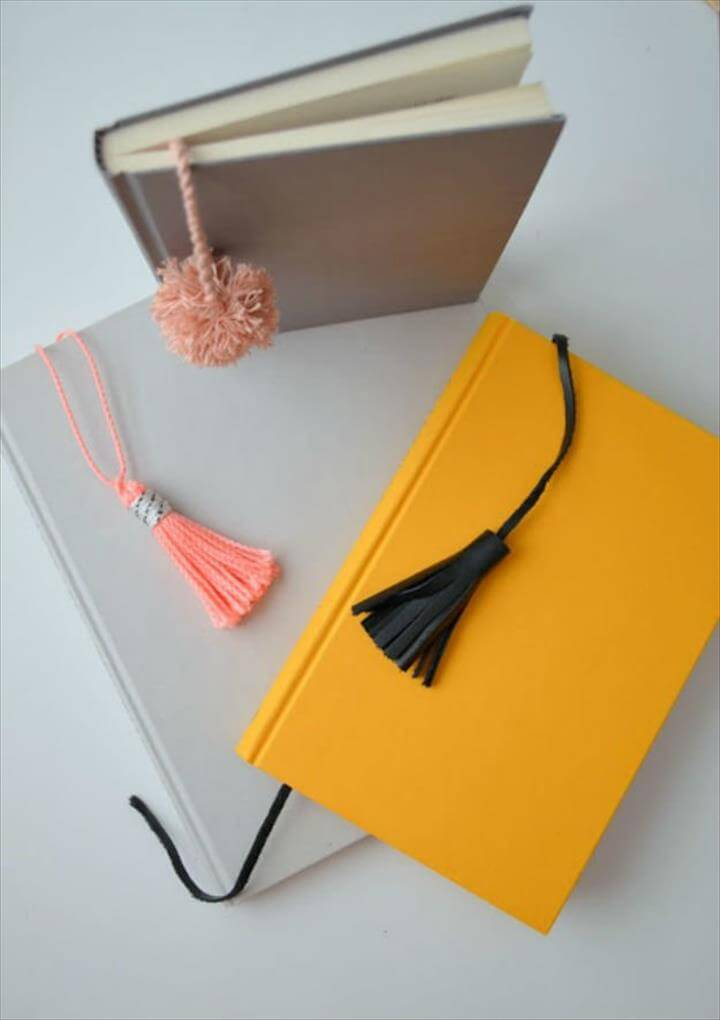 Cute Pom-Pom and Tassel Bookmarks