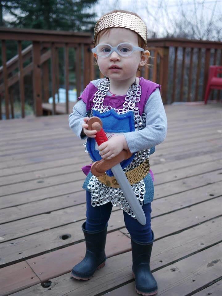 DIY Knight in Shining Armor Baby Costume