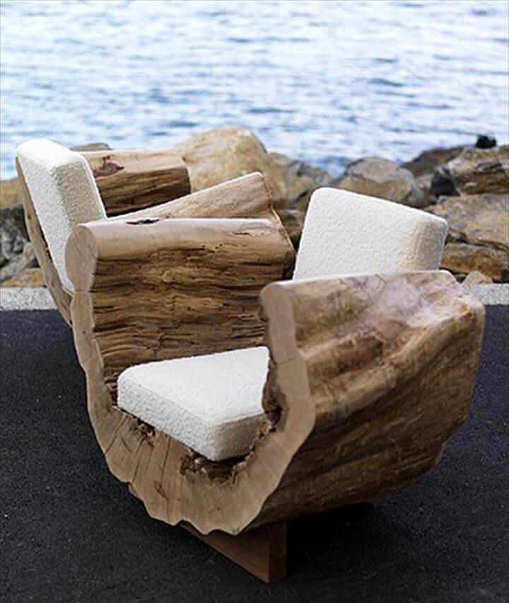 tree stump sitting idea