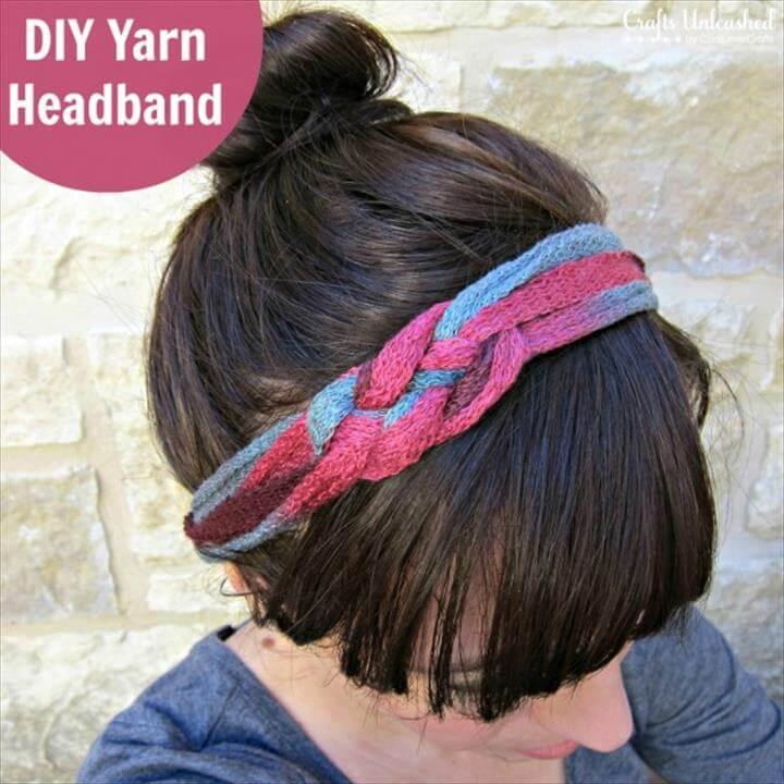 yarn headband idea