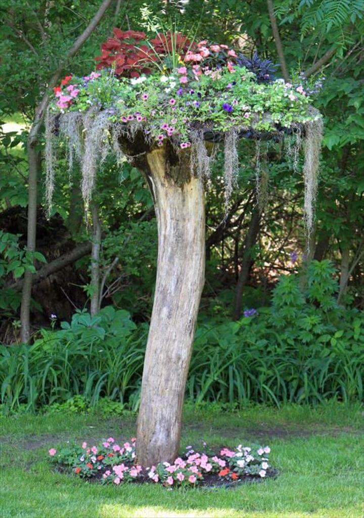45 amazing ideas with recycled tree trunks diy to make for Tree trunk slice ideas