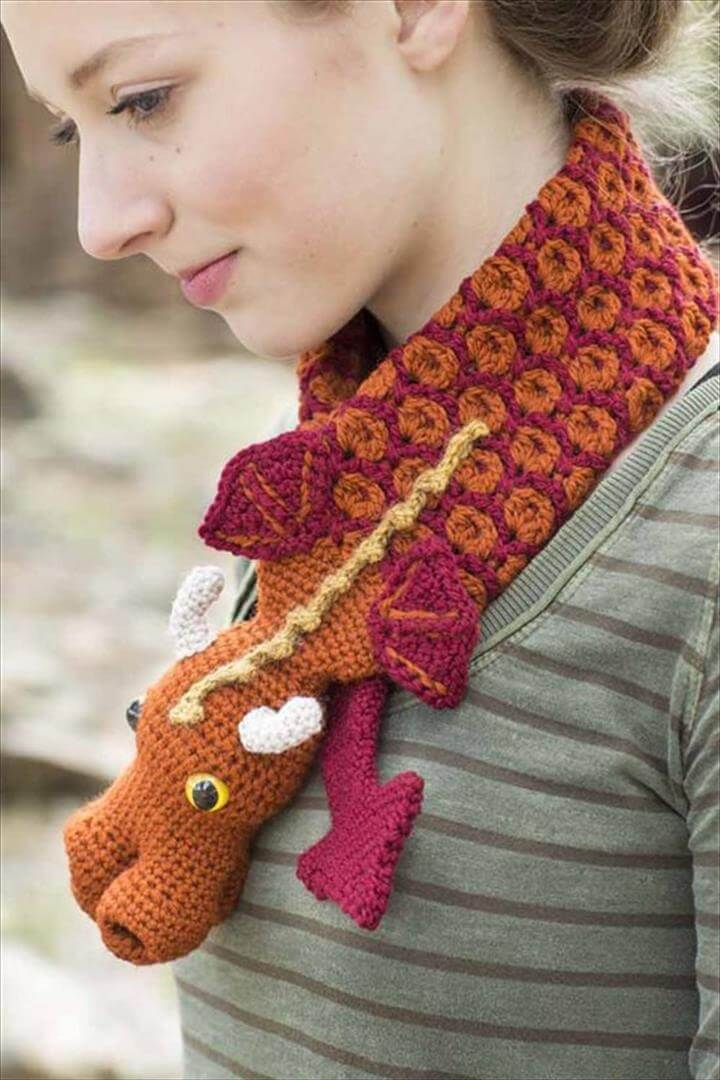 Dragon Crochet Cowl