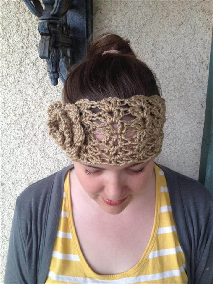15 Easy Crochet Headband With Flowers Diy To Make