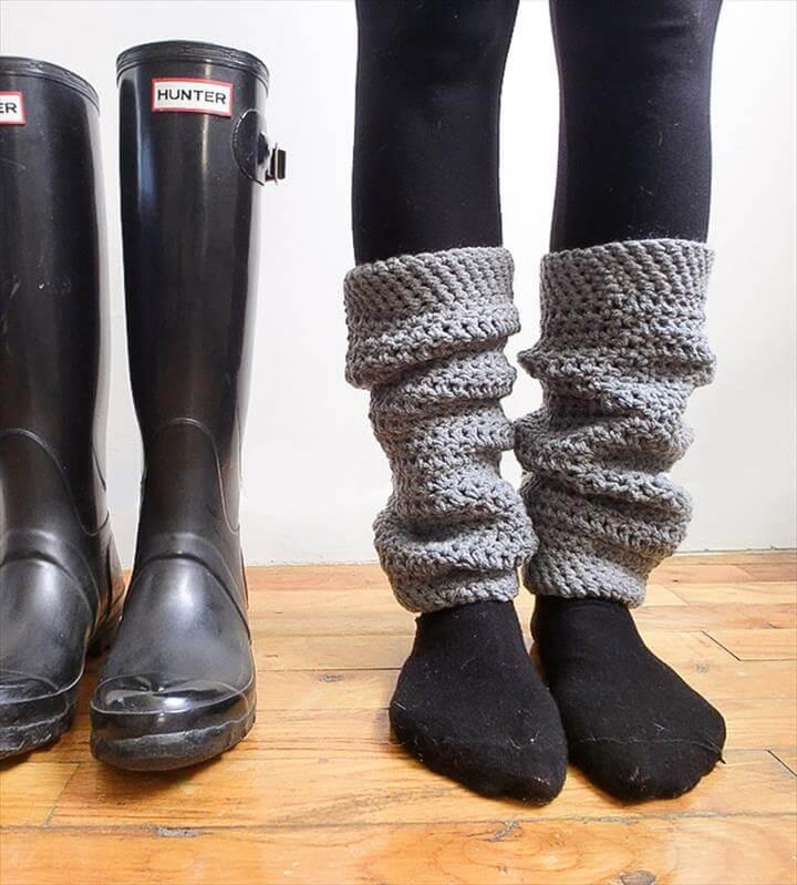 simple and easy crochet leg warmer
