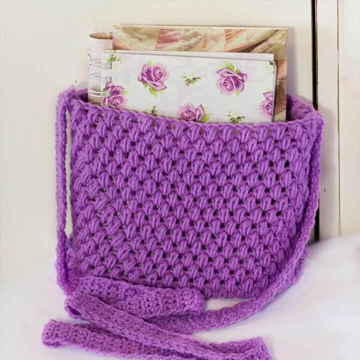 Easy Tote Bag Crochet Pattern: