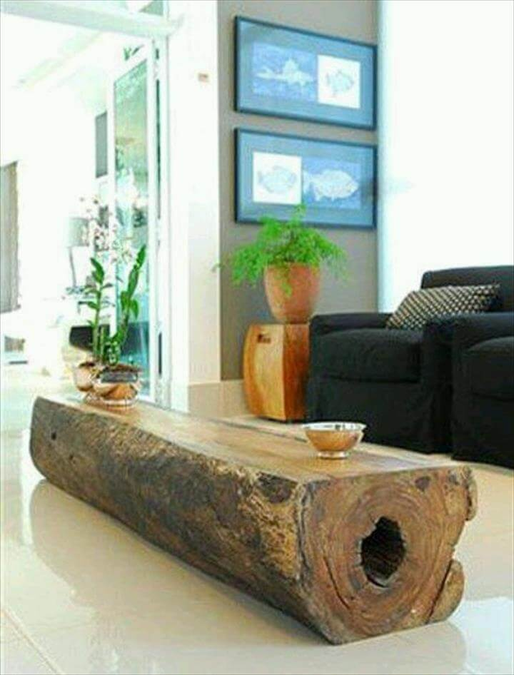 45 amazing ideas with recycled tree trunks diy to make. Black Bedroom Furniture Sets. Home Design Ideas