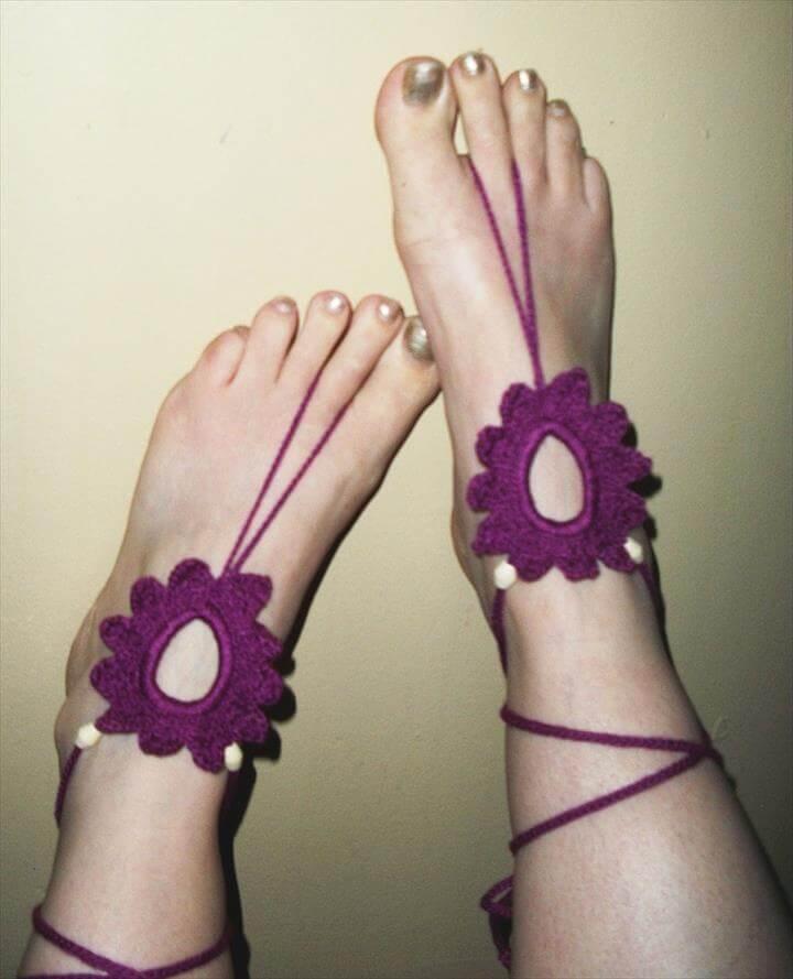 Flower Feet -Barefoot Sandals