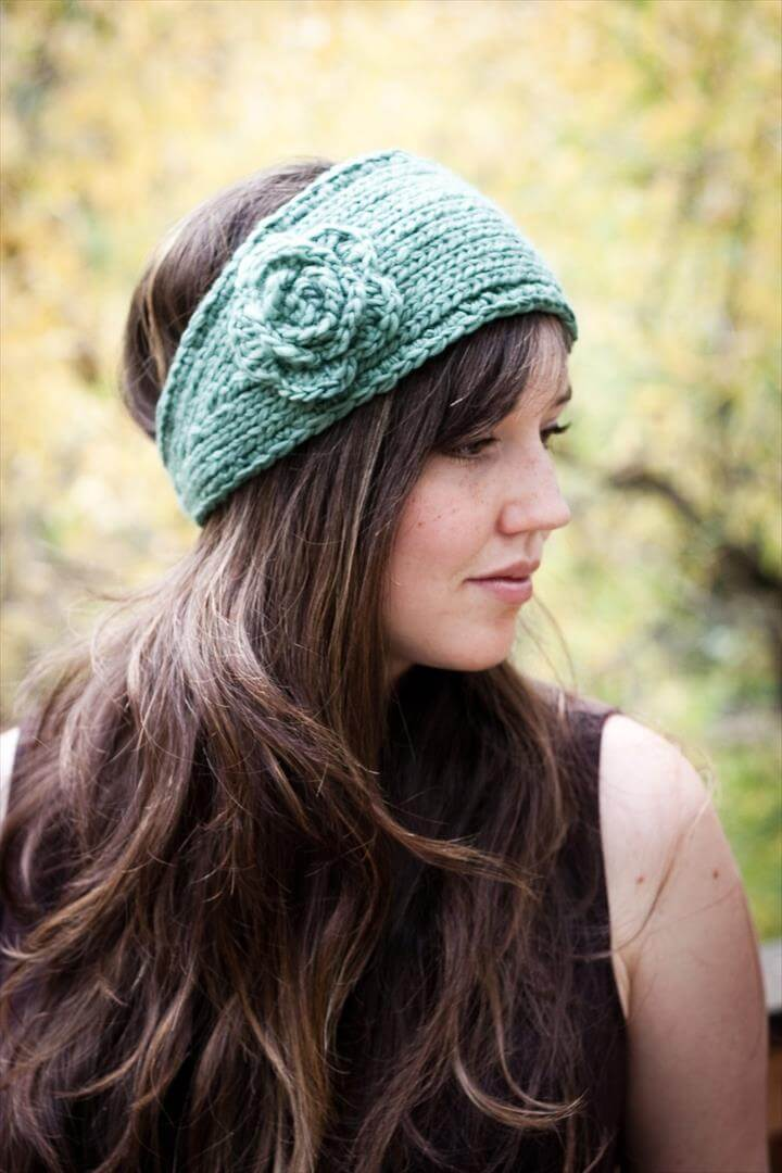 Flower Headband Earwarmer