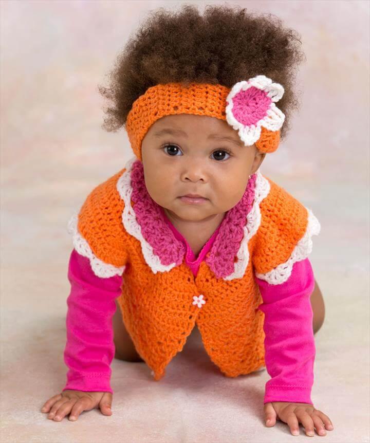 Flower Petal Sweater & Headband Crochet Pattern