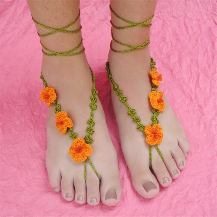 New Crochet Pattern: Poppy Barefoot Sandals