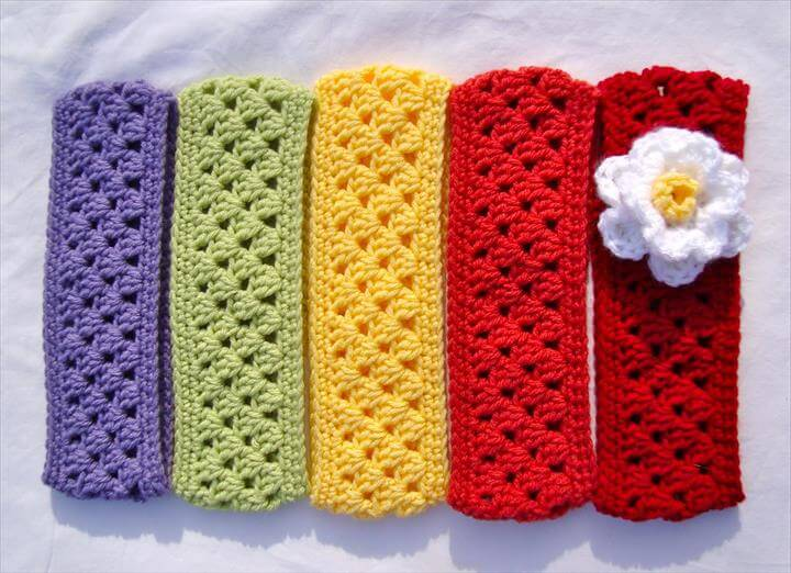 Free Crochet Flower Headband Ear Warmer Pattern