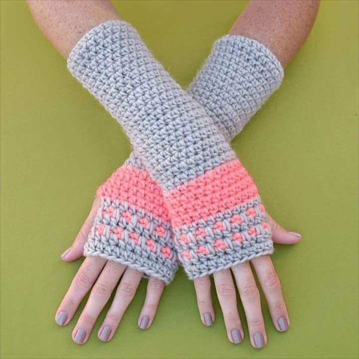 37 Awesome Basic Crochet Fingerless Armwarmers