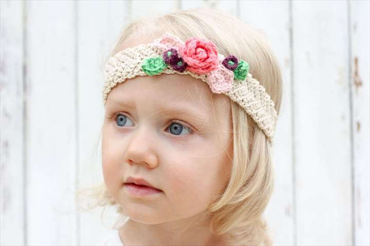 This free crochet flower headband pattern is surprisingly easy and it .