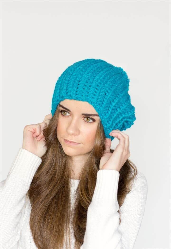Blue Beret Crochet Pattern