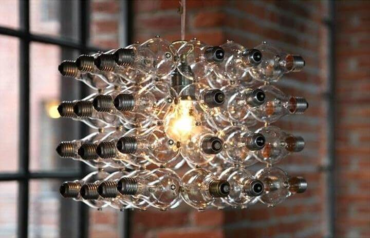 Top 28 affordable diy old light bulb ideas diy to make bulb chandelierlamp diy mozeypictures Images