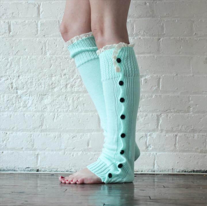 beautiful crochet leg warmer