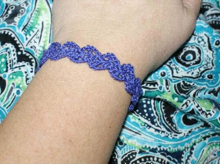 Lacy Crochet Cuff Bracelet