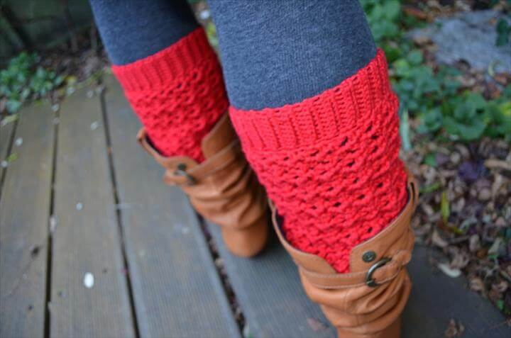 Crochet pattern lacy leg warm