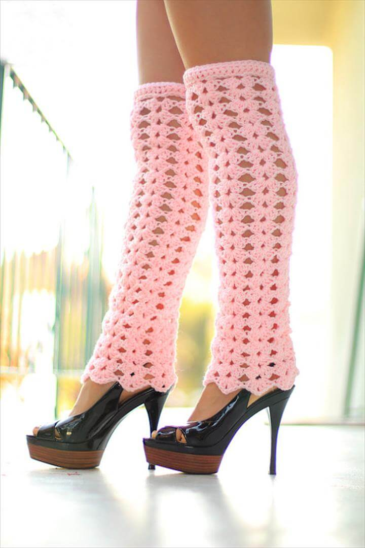 Lacy Crochet Leg Warmers