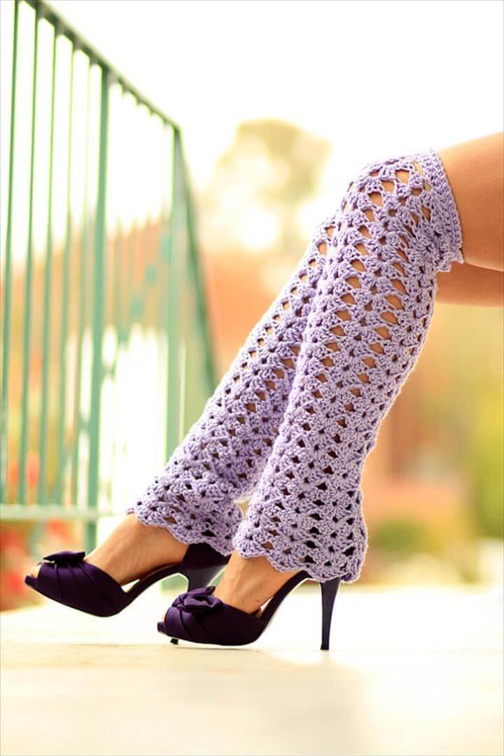 amazing crochet leg warmer