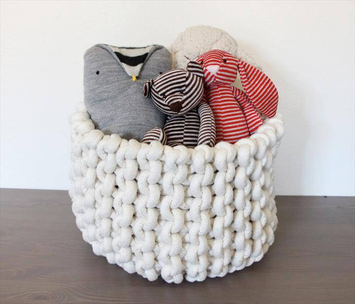 Share crochet rope basket Items
