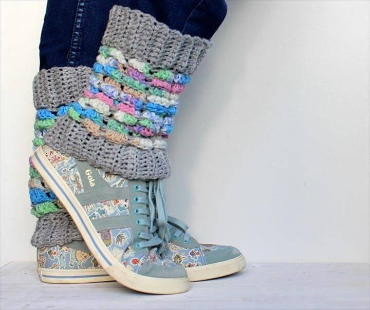 lazy daisy jones crochet leg warmers from simply crochet issue
