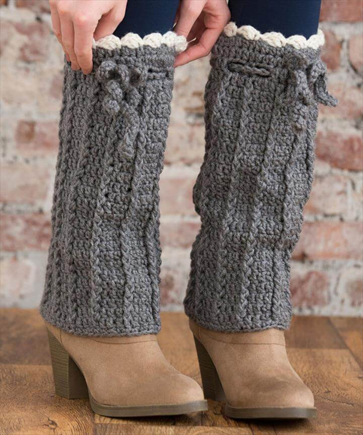 crochet long boot warmer