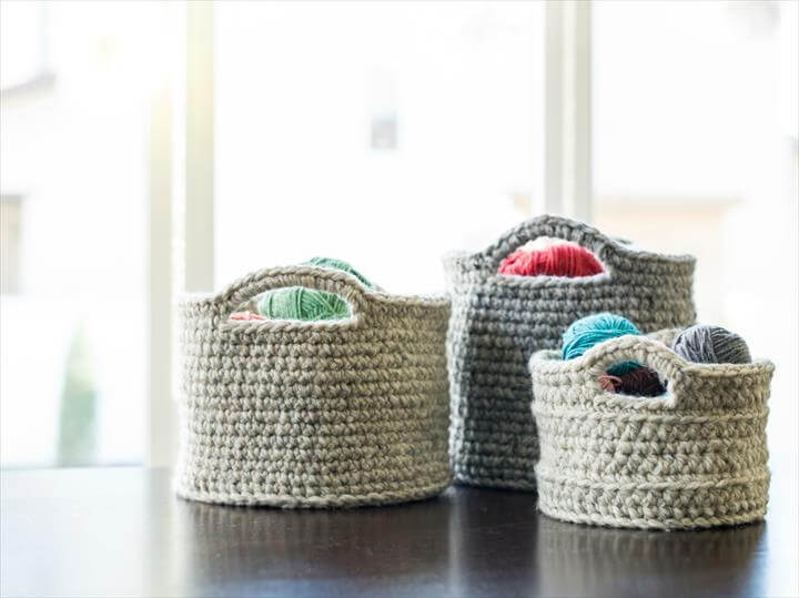 chunky crocheted basket